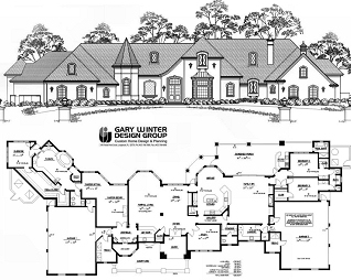 WideLot001 wide lots house plans home design and style,Wide House Plans